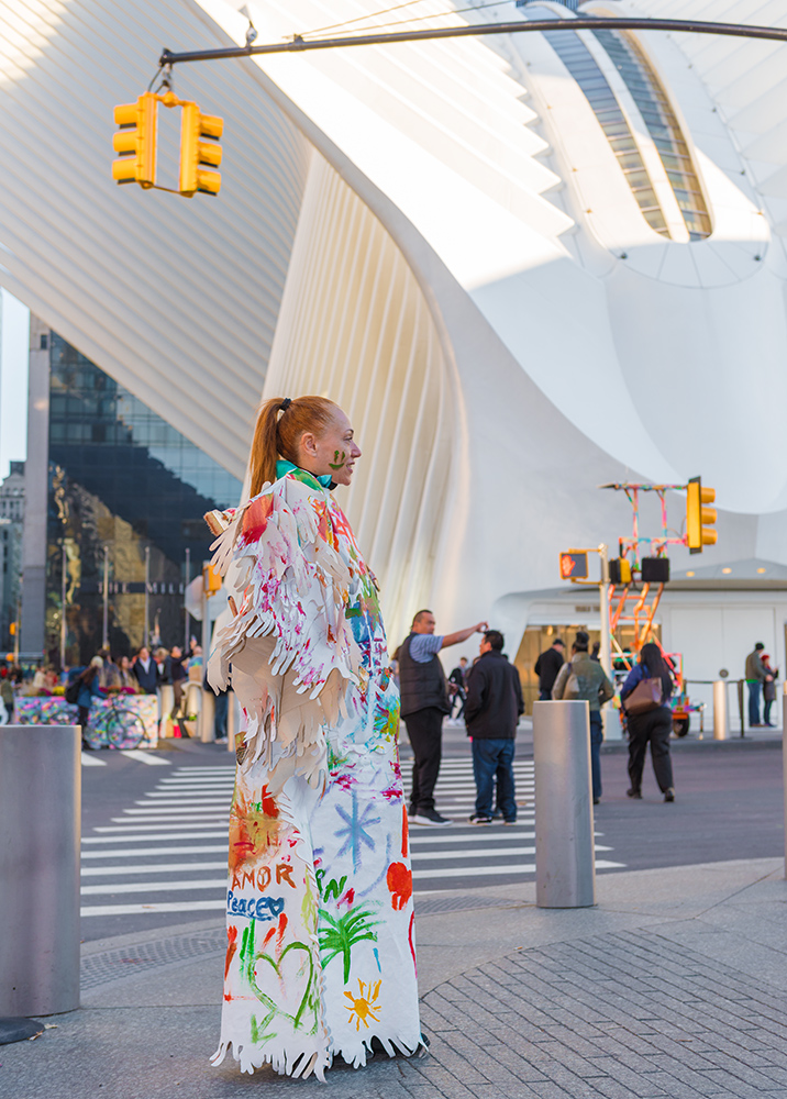 Memory Replacement - Roaming Installation and Performance with Public Participation at the World Trade Center Memorial site in New York city - Final look of the Dress