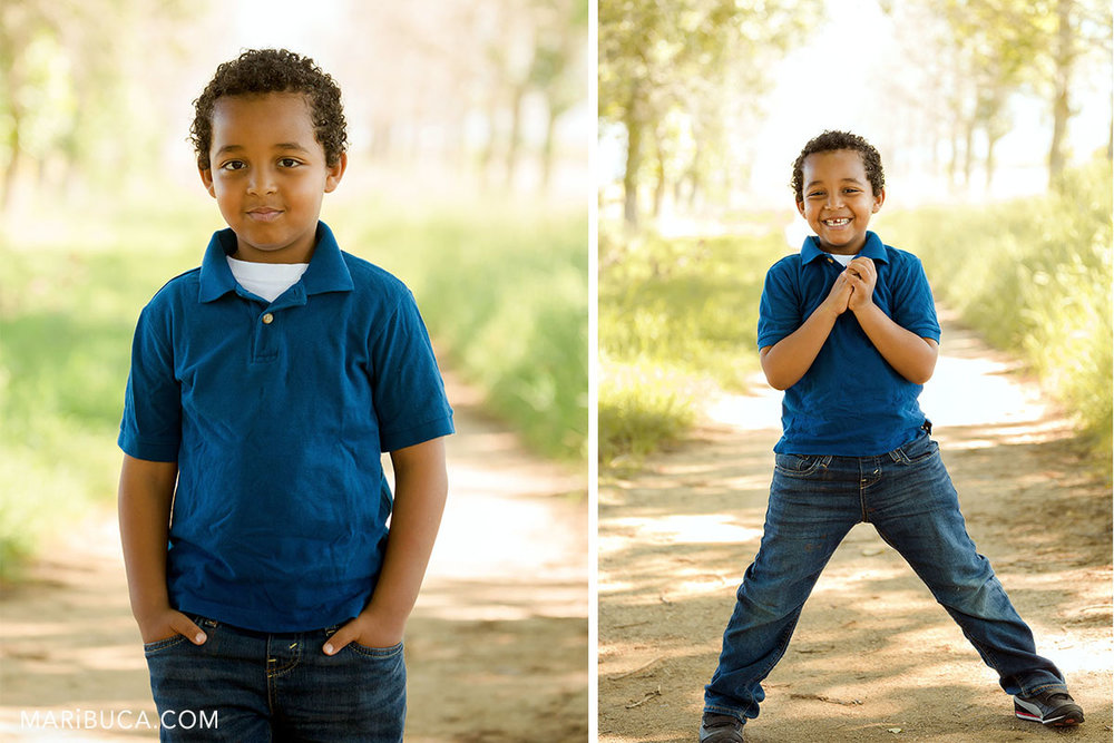 boy portrait and his funny emotions.