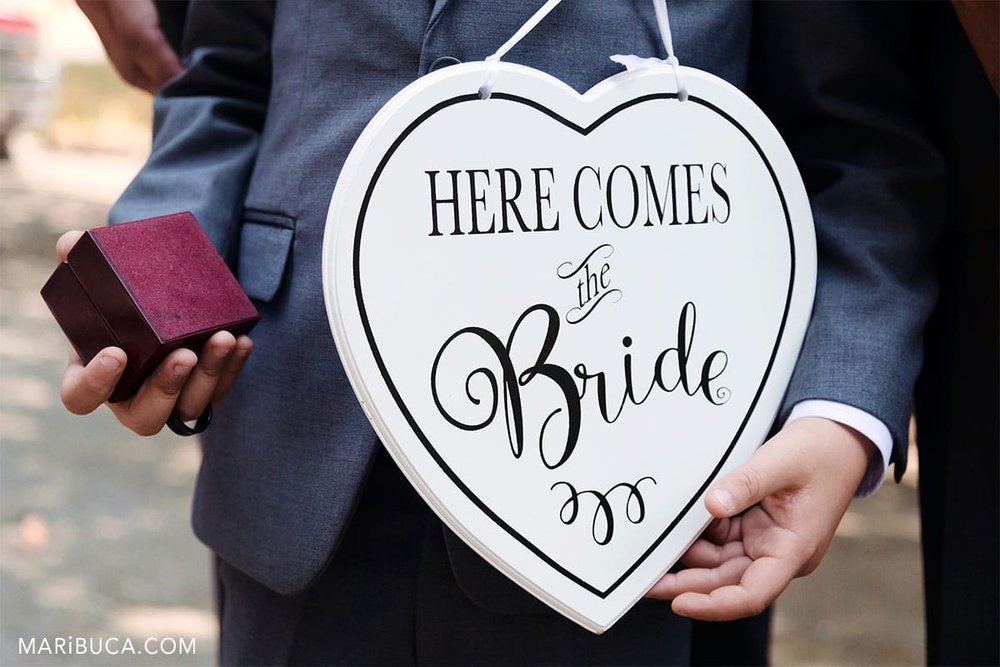 """sign """"here comes the Bride"""""""