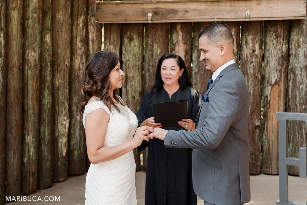 exchange the wedding rings in the Watsonville