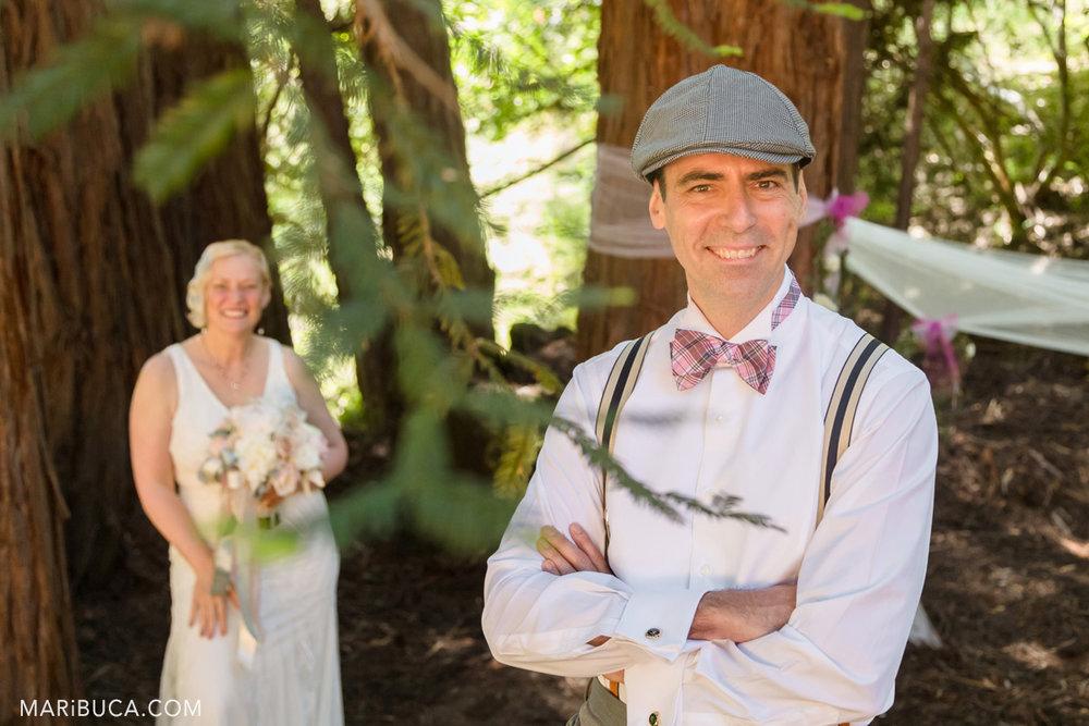 Wedding Photographer Saratoga Springs where newlyweds couple have fun during wedding photo session