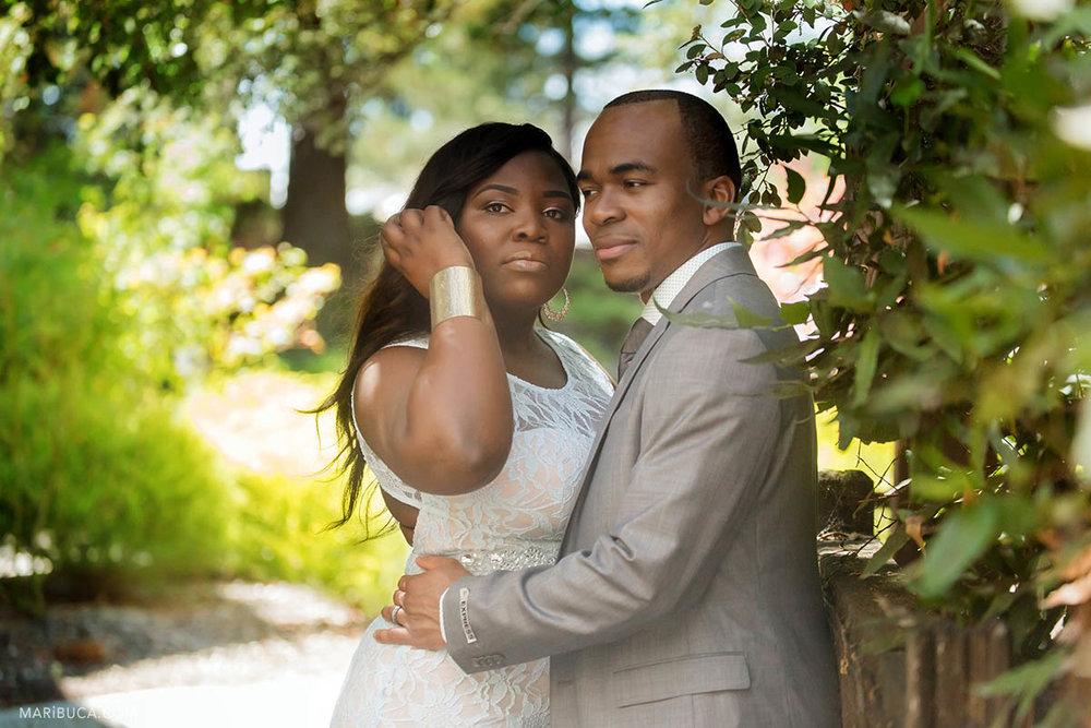 One year Anniversary wedding where couple celebrate in the Hayward Japanese Garden.