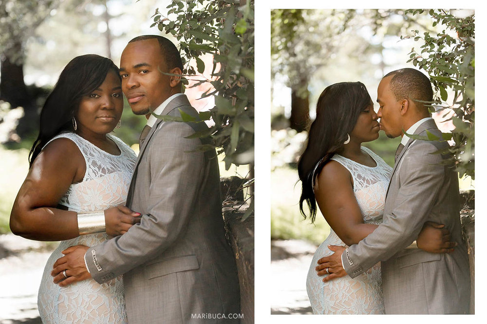 """""""Anniversary wedding for the adorable couple retro style photography in the Hayward Japanese Garden."""