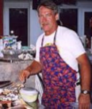 Chef Joe at the Pig Roast