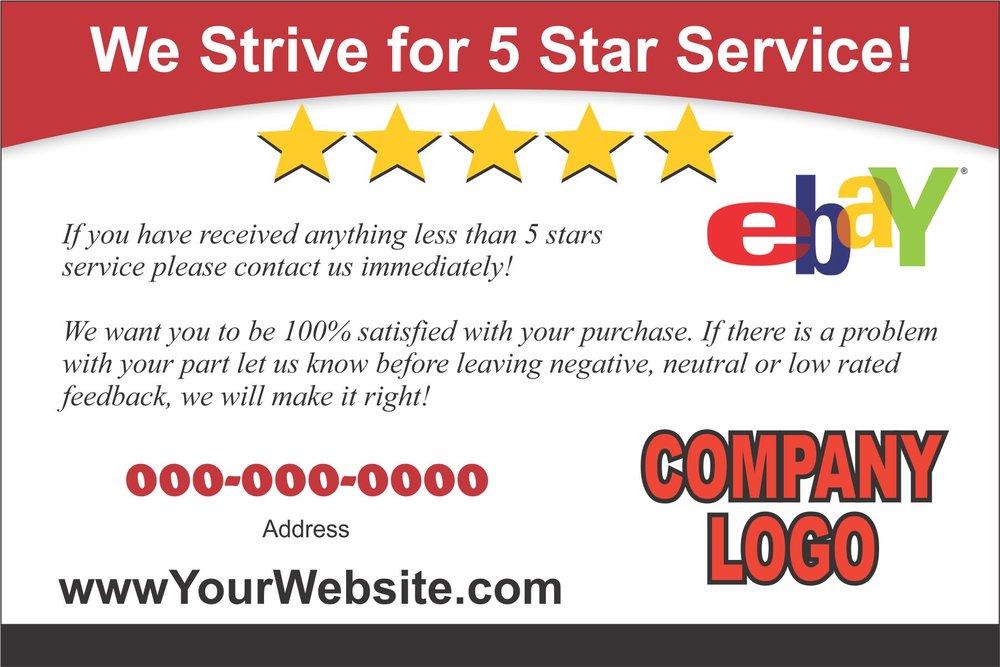 Rate Card - eBay