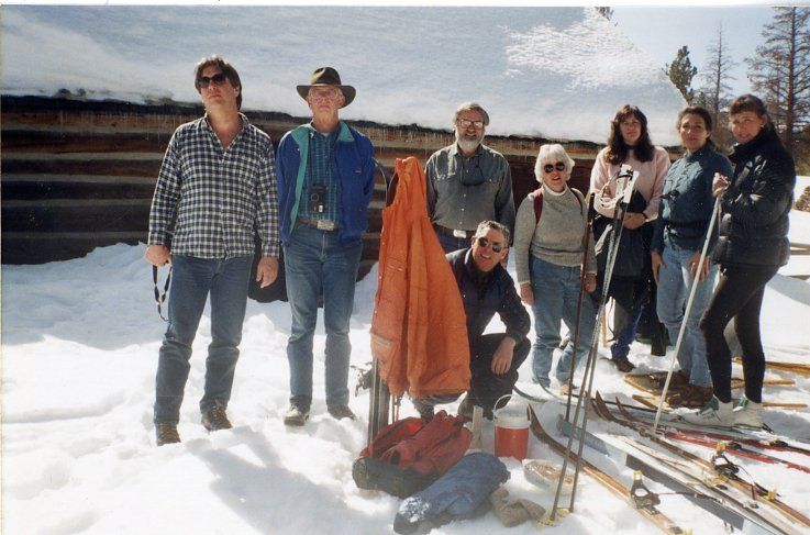 Southern mono historical society board members at the Hayden Cabin-1990's