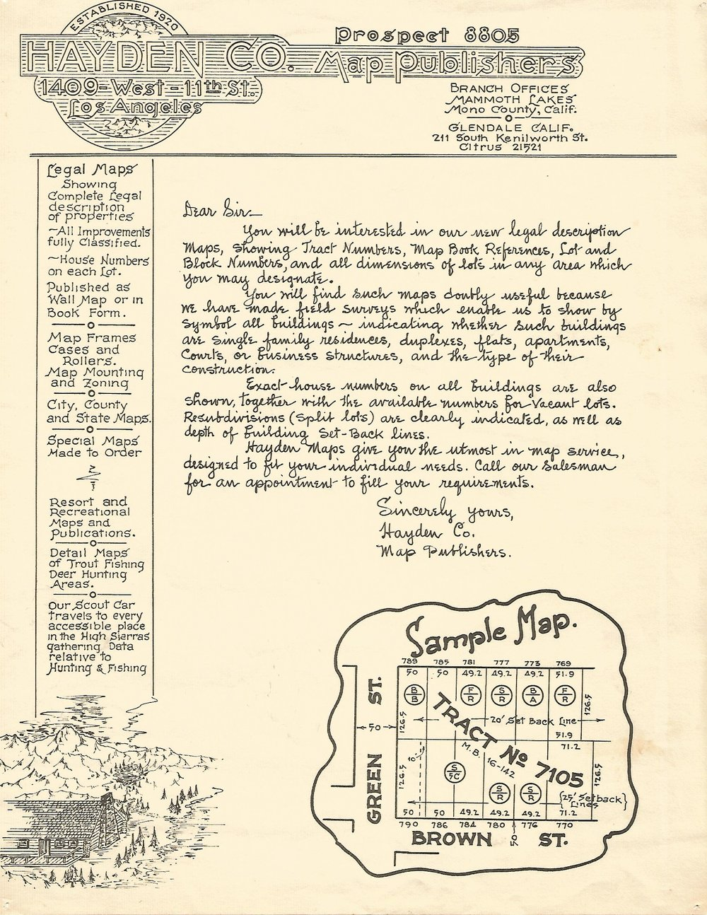 Advertising for Hayden Map Publishers