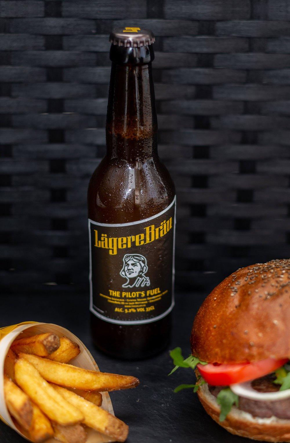 Beer and Burger Menu