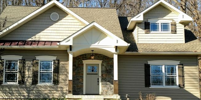 REMODEL TO CRAFTSMAN STYLE HOME  - SMALL, BUT OPEN DESIGN HELPS YOU FEEL LIKE YOU HAVE A LOT OF ROOM .