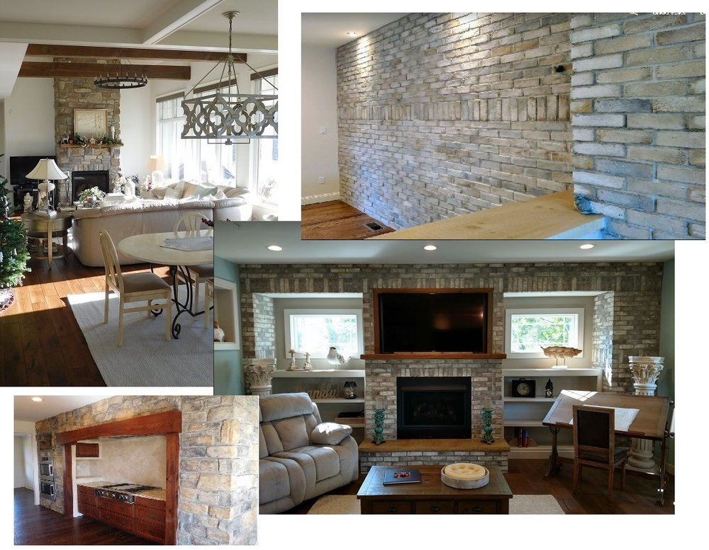 INTERIOR DETAILS… - BRICK AND STONE WALLS, BEAMS AND TRIM GIVE OUR HOMES A VERY WARM FEEL WITH LOTS TO LOOK AT AND TAKE IN.