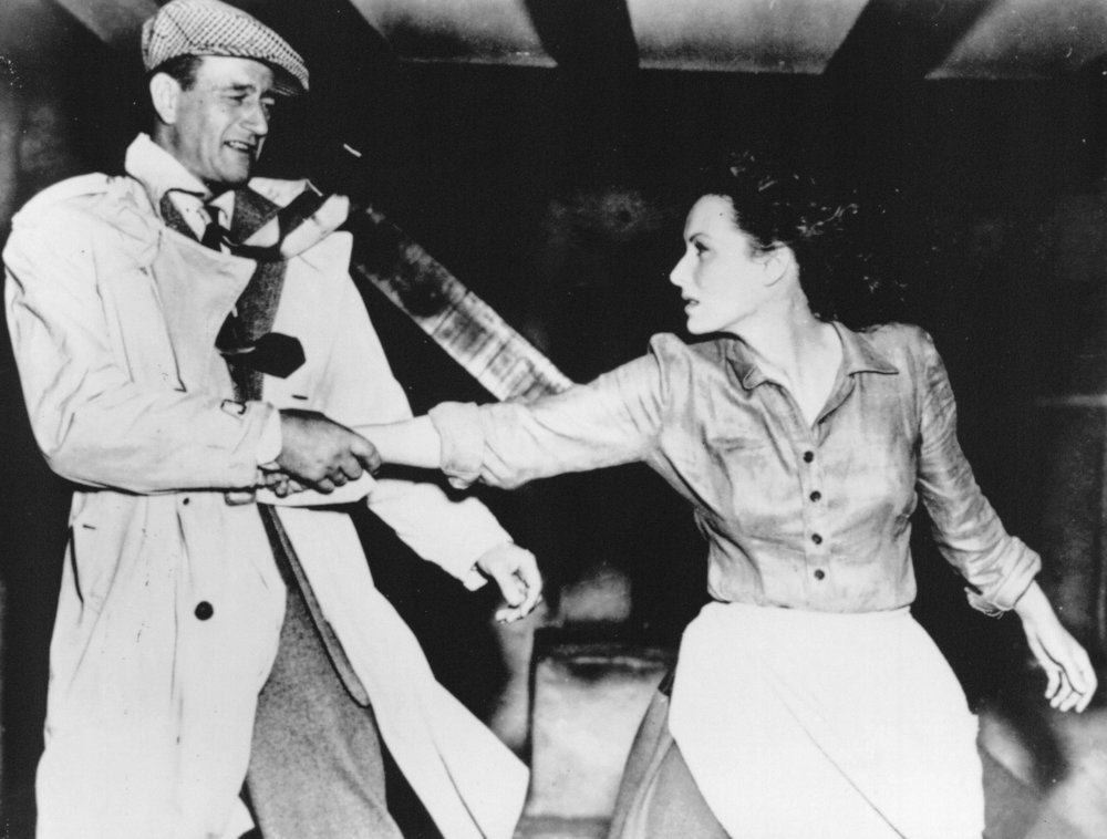 John Wayne and Maureen O'Hara in a scene from  The Quiet Man  (1952), photo courtesy of Republic Pictures