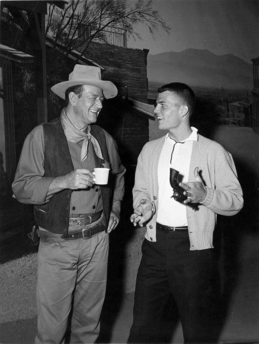 John Wayne (left) and Patrick Wayne (right)