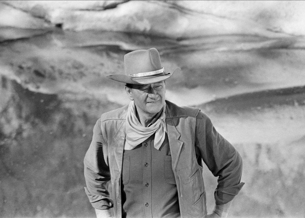 John Wayne on the set of  El Dorado  (1966). Photo by John R. Hamilton, courtesy of John Wayne Enterprises