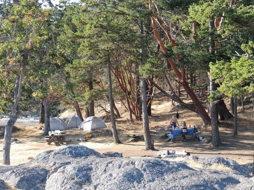 Campsite on Jones Island.