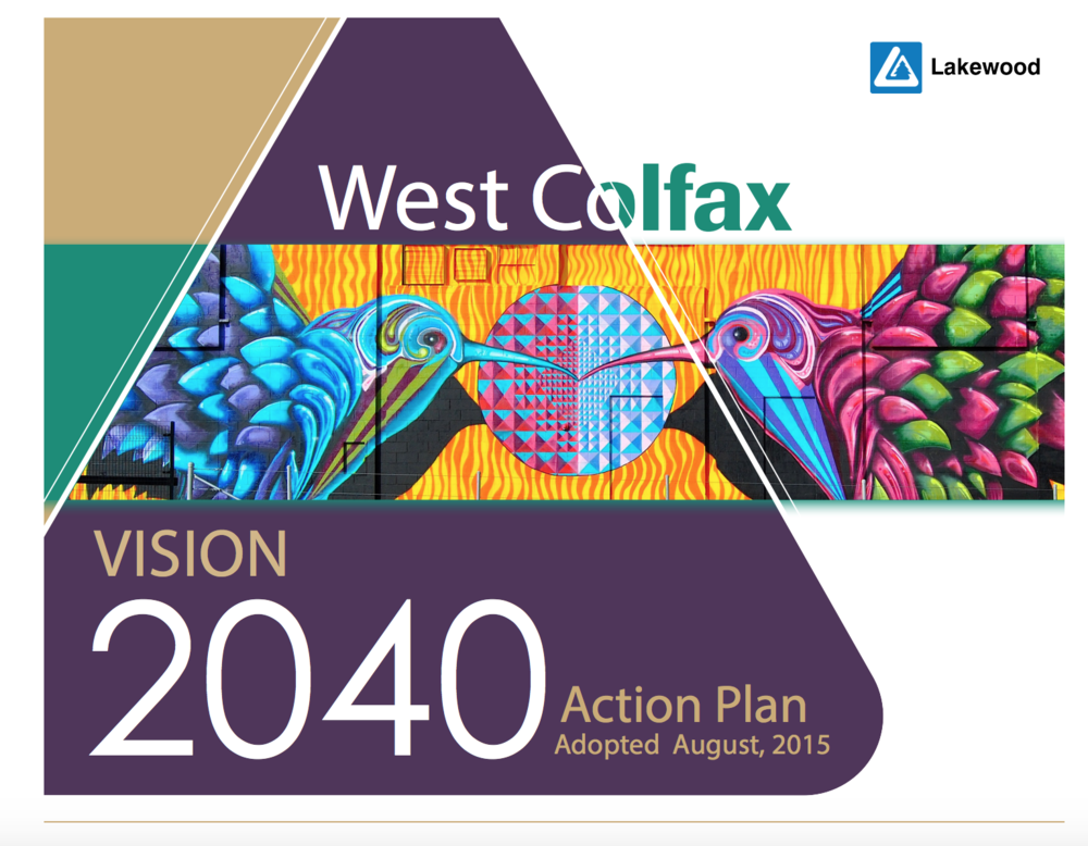 Our Mission - The overarching goal is to help shape West Colfax into a vibrant destination where locals and visitors come to create fresh opportunities, connect with diverse experiences, and celebrate culture, both old and new. We have a clear message that is both a vision and an invitation to all who wish to join in the journey: Experience Lakewood's West Colfax—a creative community . . . come and be a part of the renaissance!
