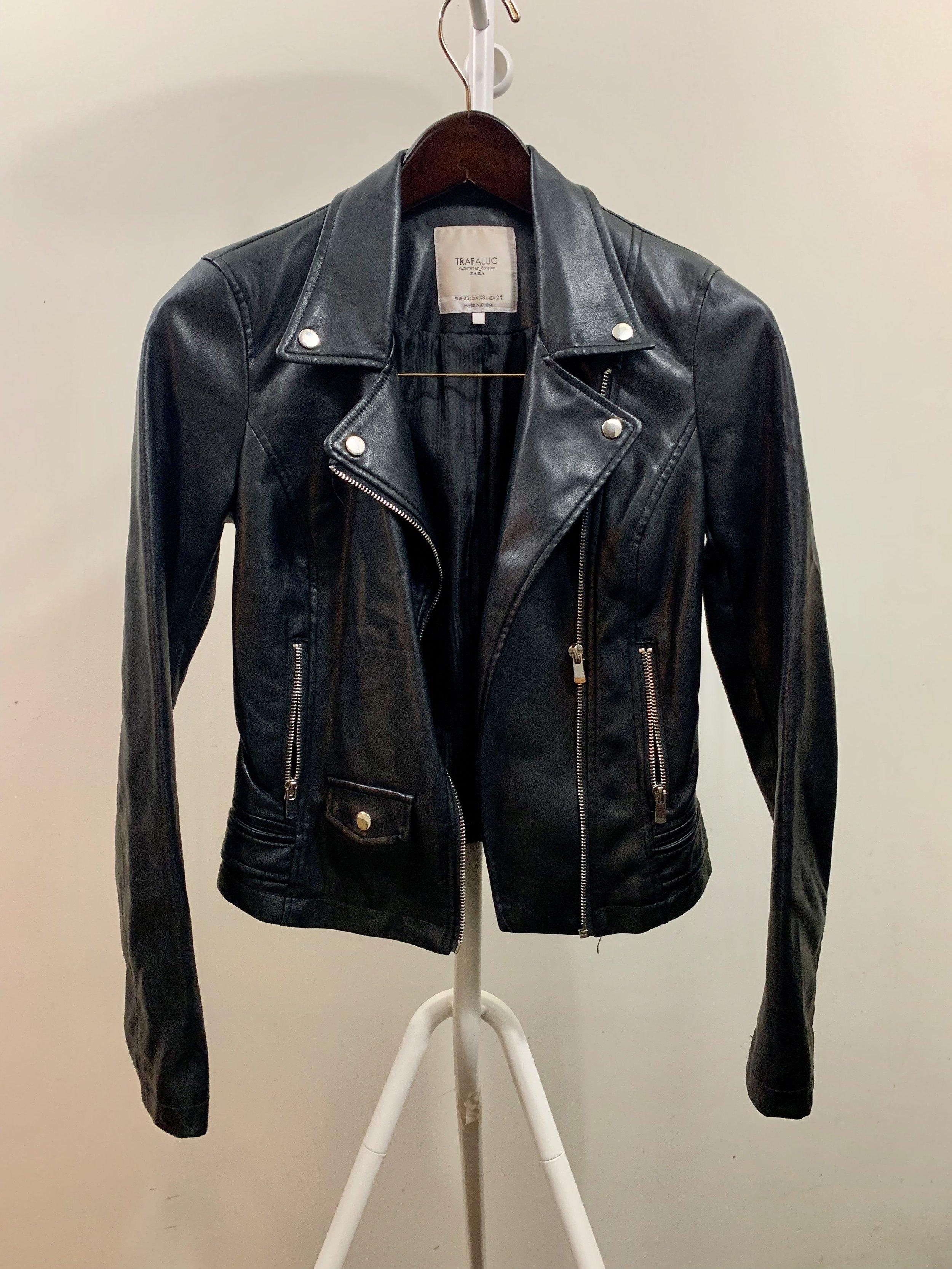 ff9824bd Zara Faux Leather Jacket — Effortless