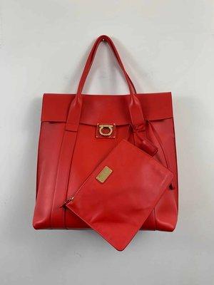 ce06c09f67 Salvatore Ferragamo Leather Maxi Top Handle Bag ...
