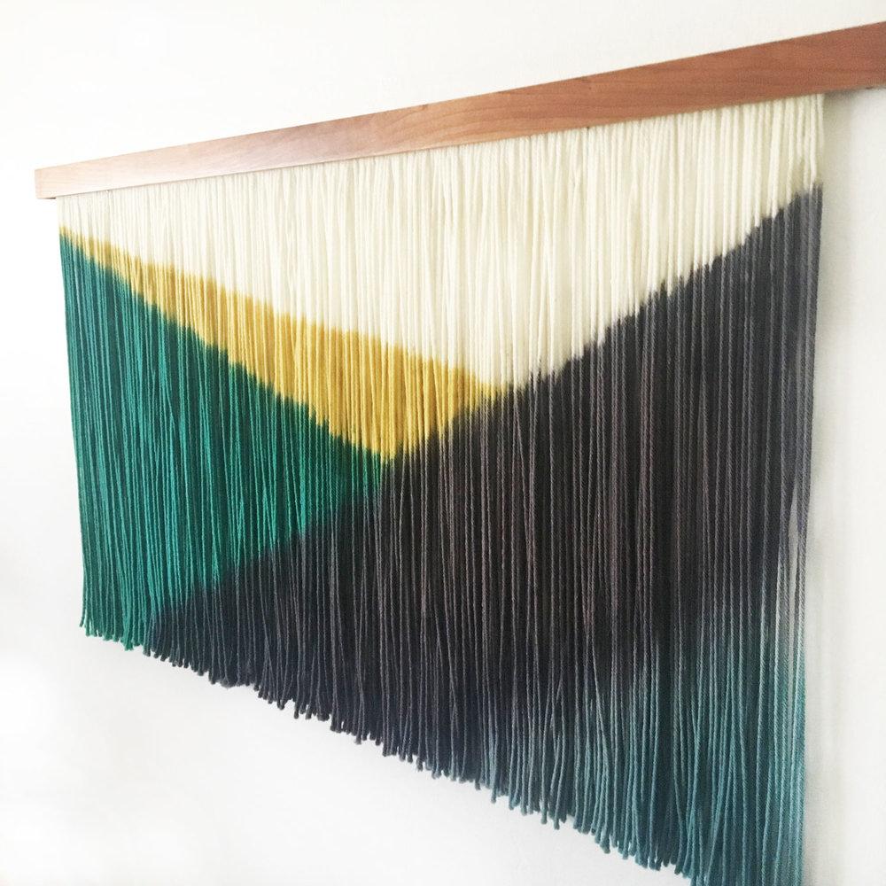 Diagonal Dye Modern Wall Hanging