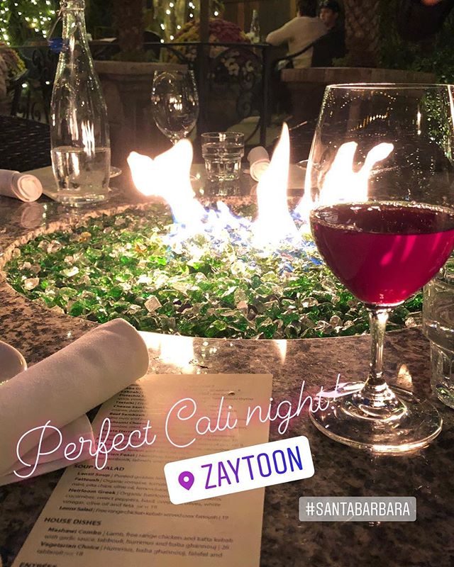 Sunday Night @zaytoonsb thanks Dawn #santabarbara #zaytoon
