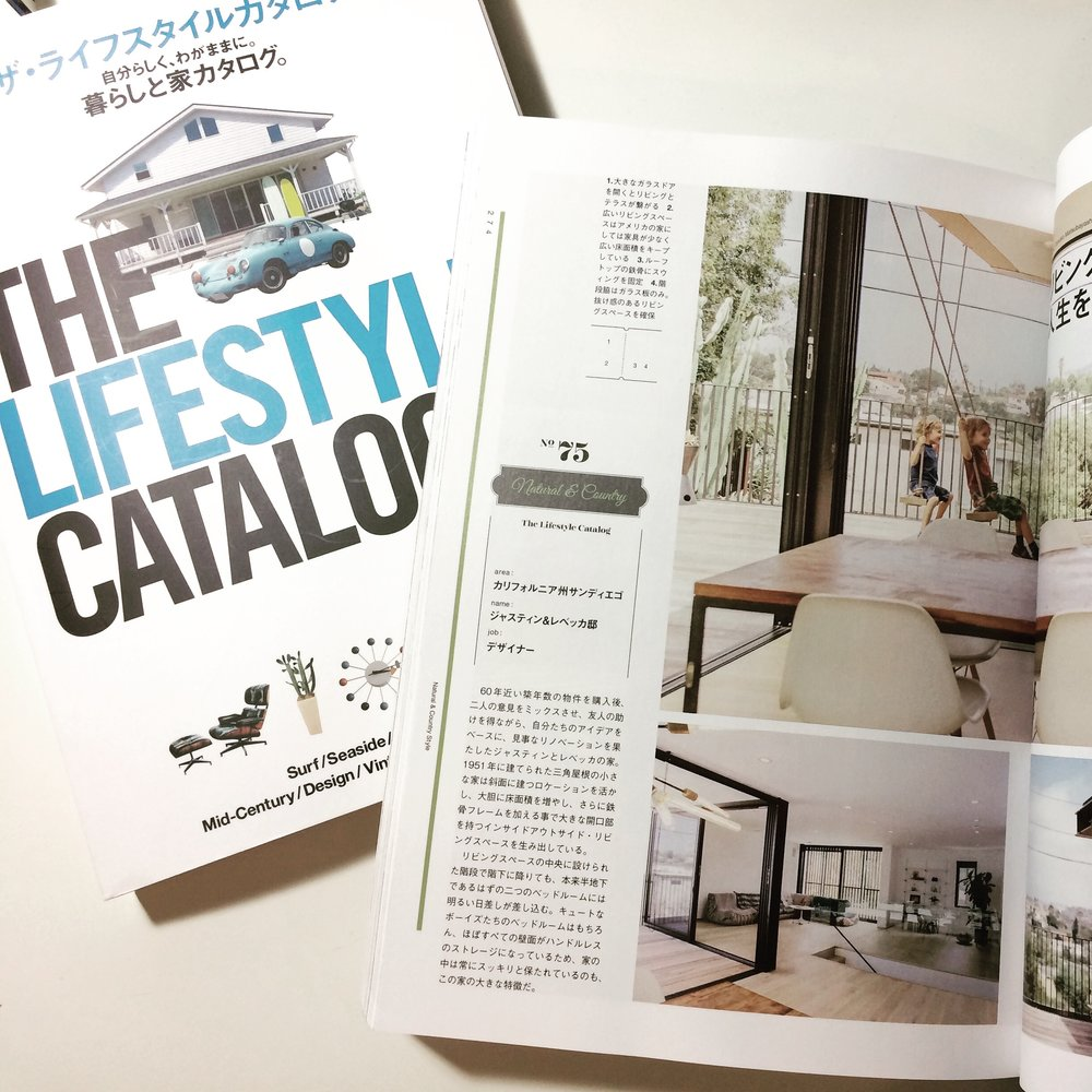 """The home was featured in Japan's """"California Living"""" publication in March 2016"""