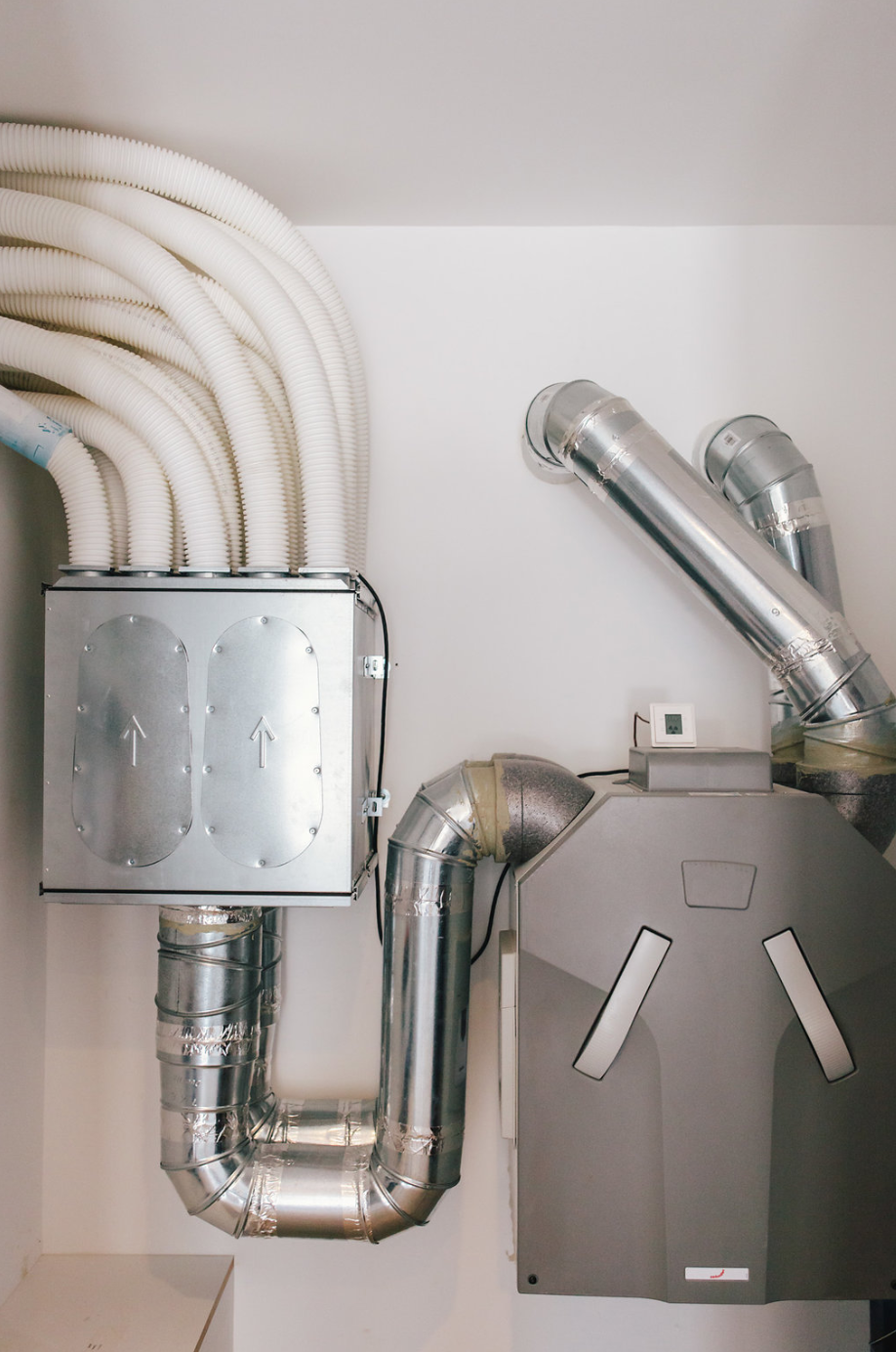 The home features a  Zehnder America  House Filtration system —the high-efficiency unit provides a constant supply of fresh air into indoor spaces.
