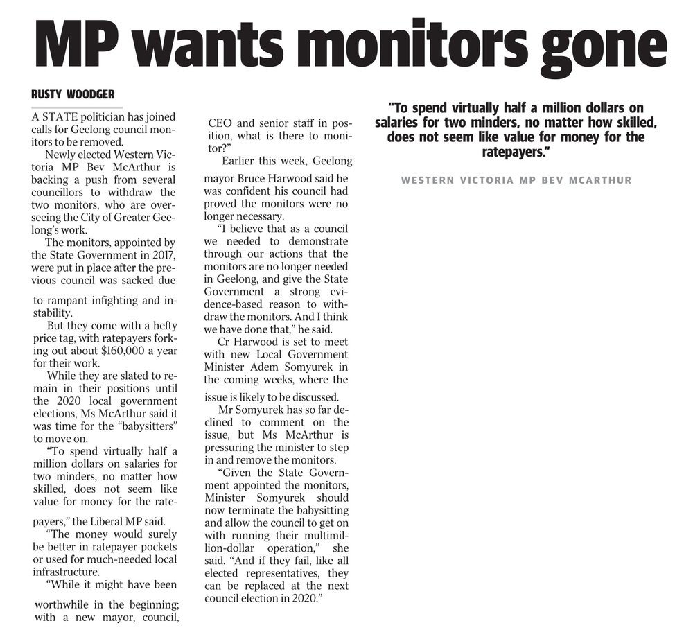 1063553483+MP+wants+monitors+gone+Geelong+Advertiser+14+January+2019-1.jpg
