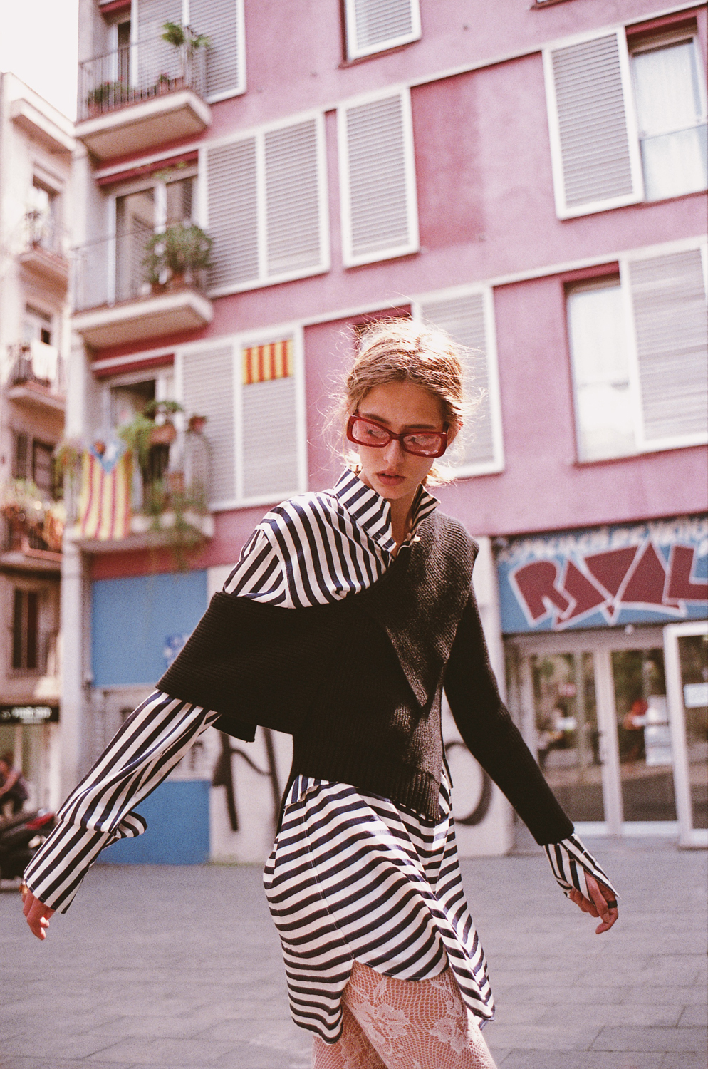 Nora in Raval for Wonderland Magazine