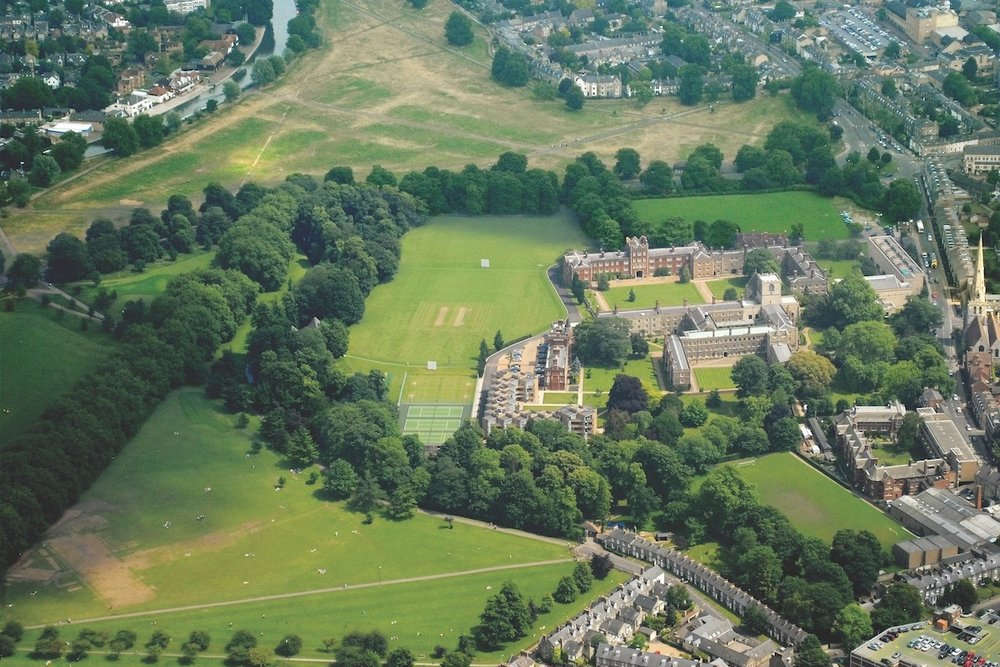 Aerial view, Jesus College, Cambridge