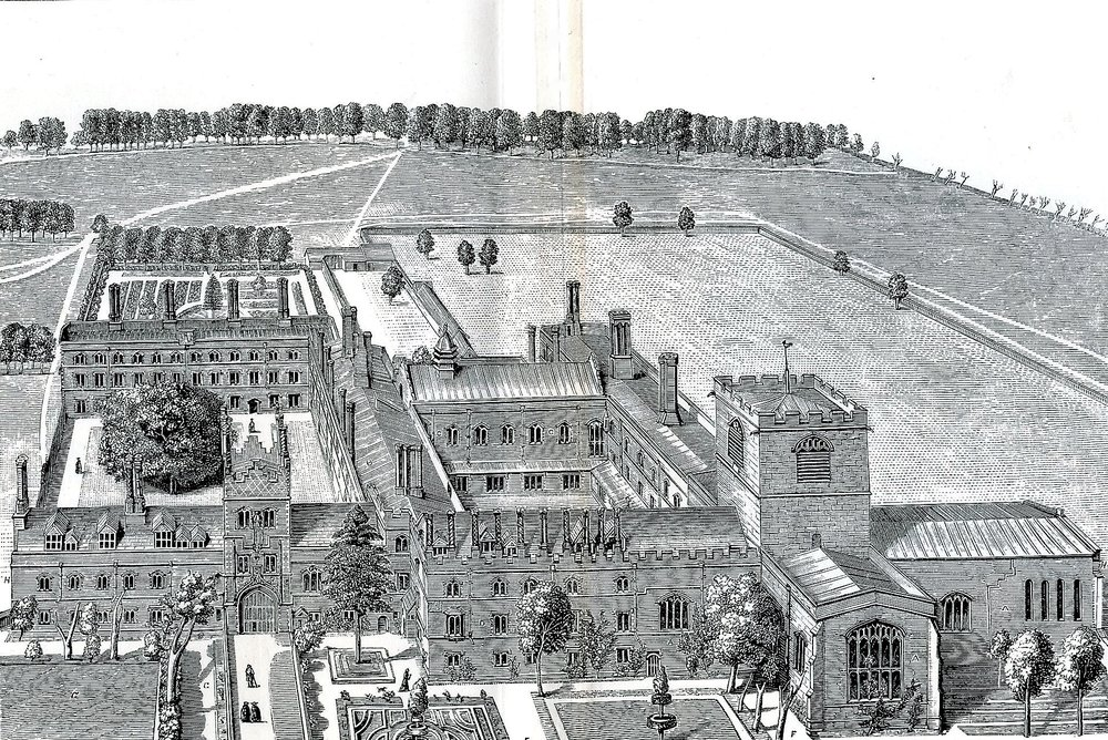 Jesus College in the late 17th century