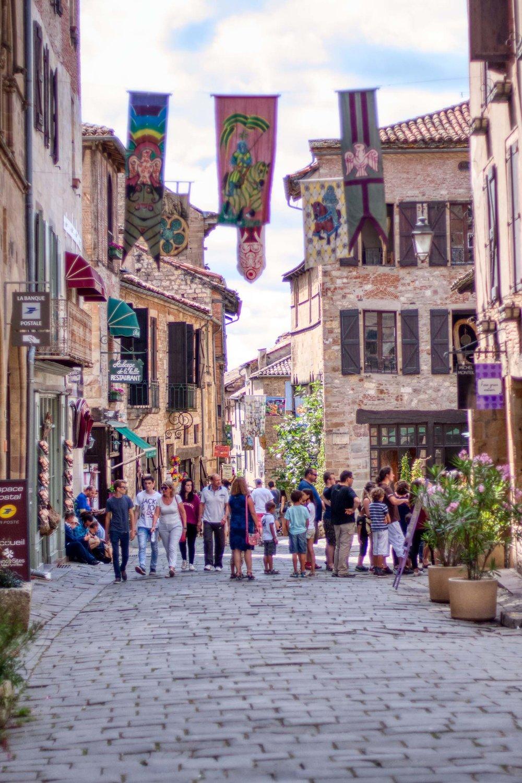 Tourists love Cordes-sur-Ciel
