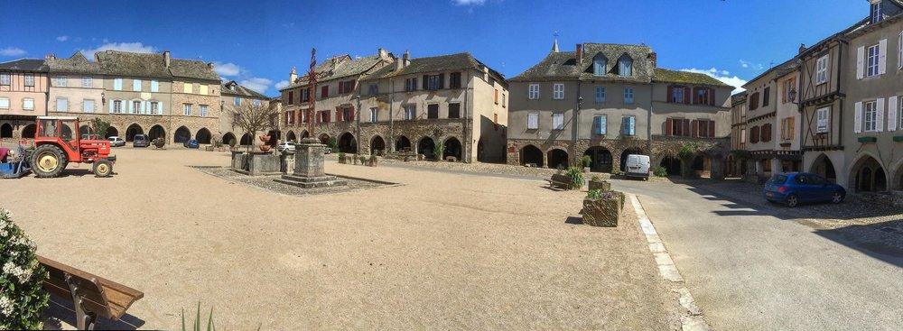 Sauveterre-de-Rouergue on a quiet morning