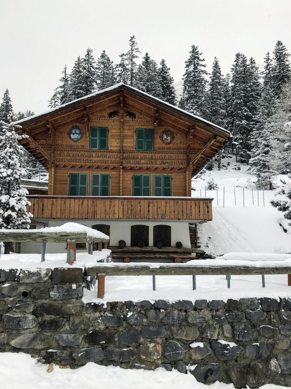 Traditional Swiss chalets