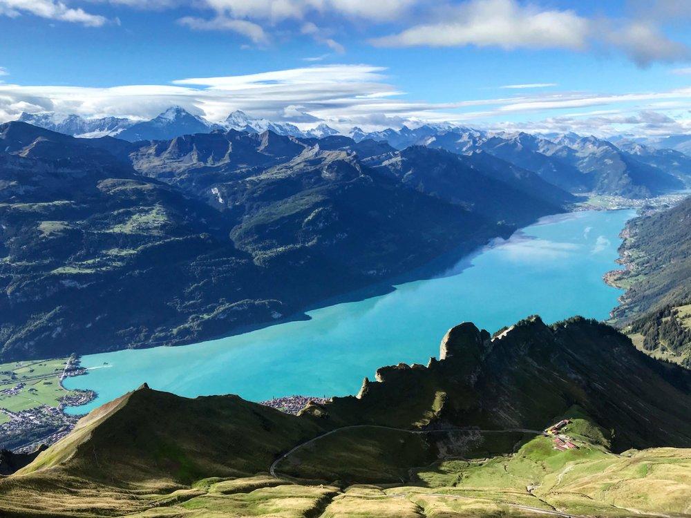 The unbelievable blue of Lake Brienze