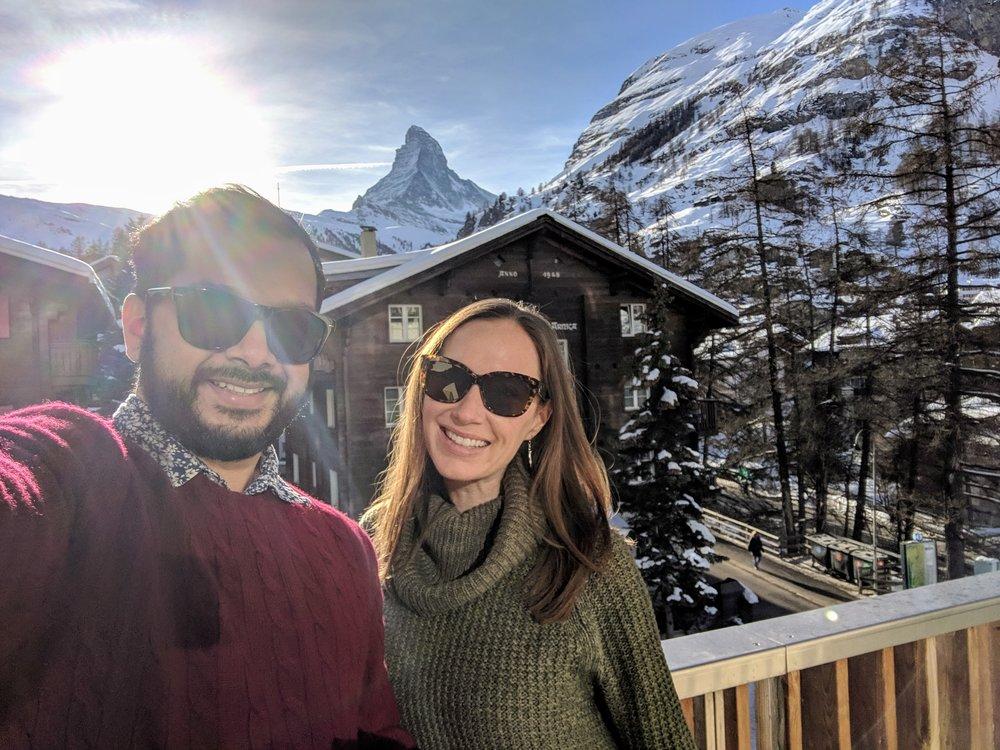 Balcony views of the Matterhorn