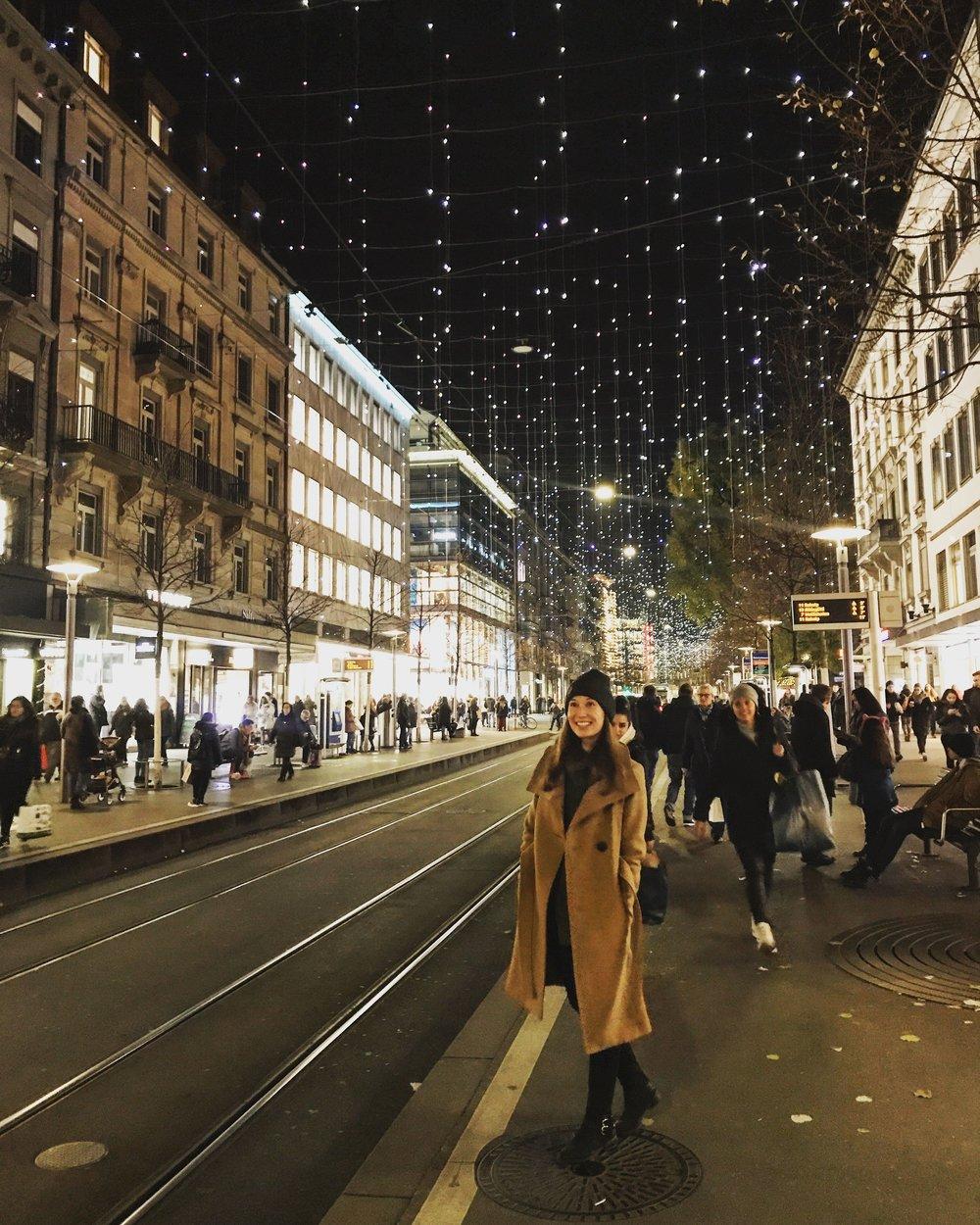 Lucy lights on Banhofstrasse