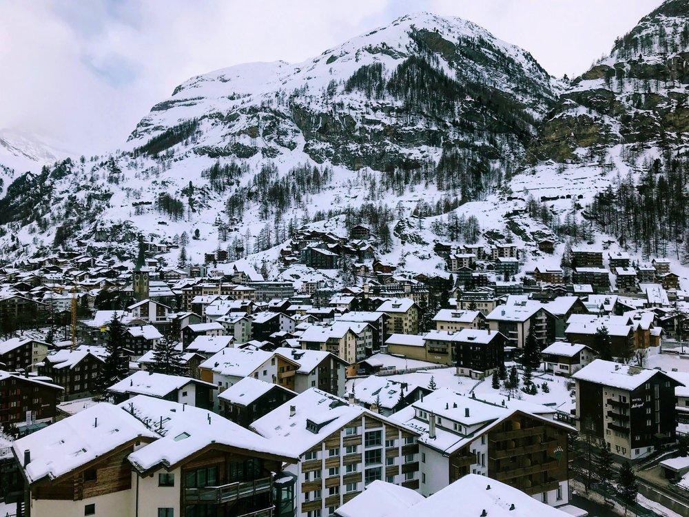 The alpine village of Zermatt.