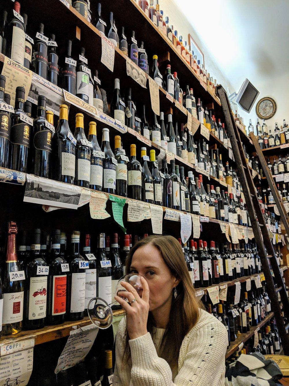 Wine in Milan's Chinatown