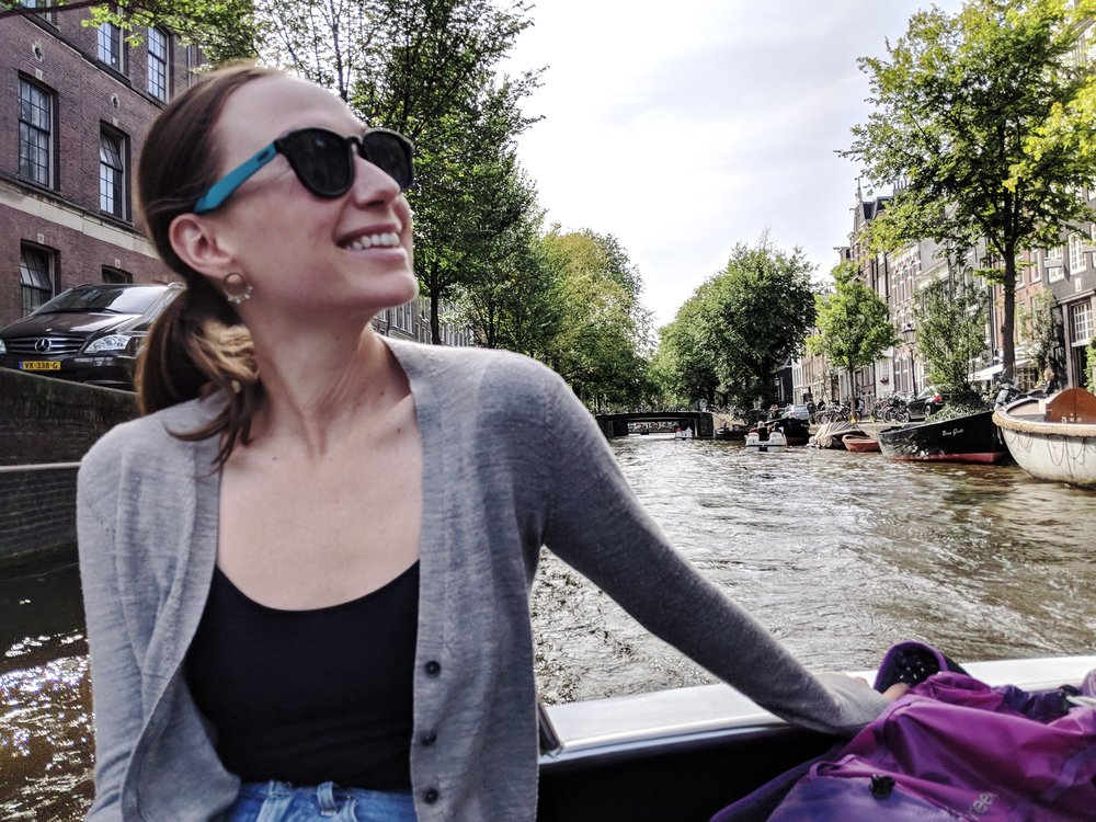 Happiness on the Amsterdam boat tour