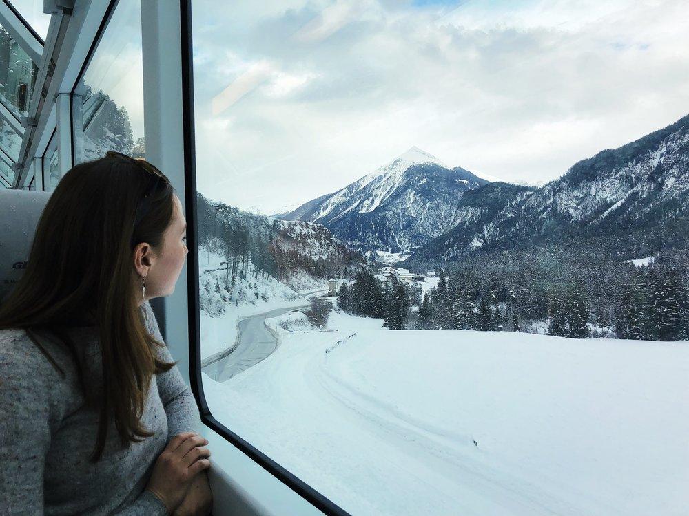 Glacier Express after leaving Chur