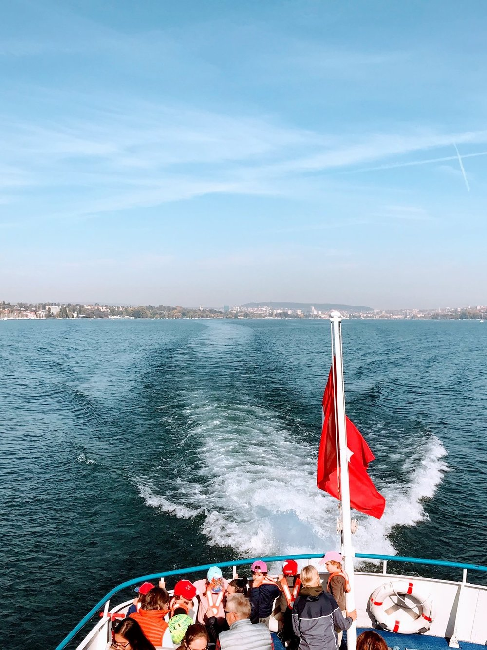 Ride on the ferry on Lake Zurich
