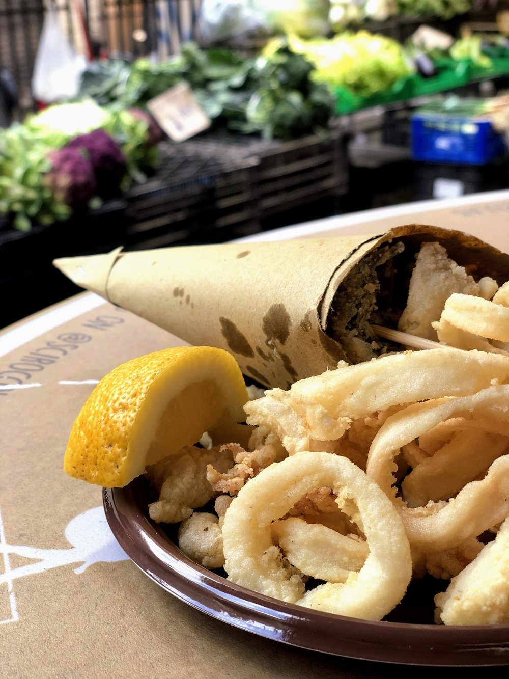 Seafood from Scirocco Sicilian Fish Lab in Catania, Sicily
