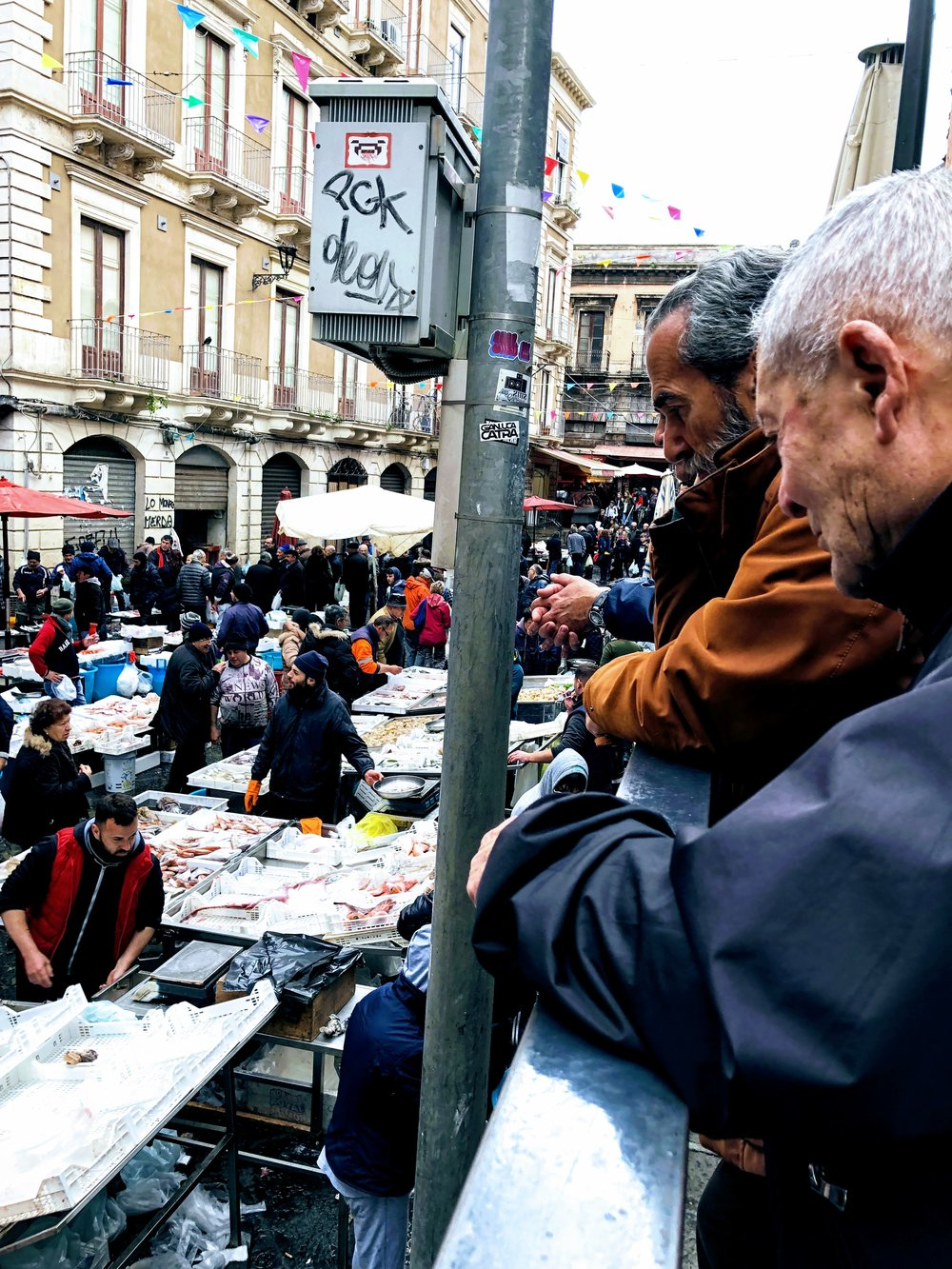 The fish market in Catania, Sicily