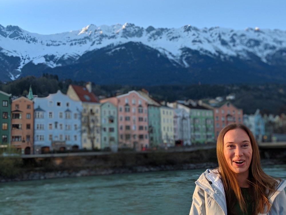 The River Houses along the Inn River in Innsbruck