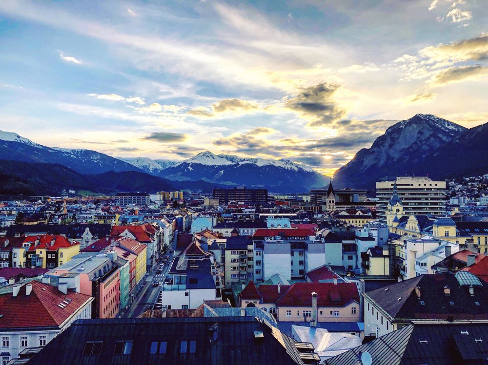 Innsbruck, Austria at sunset.jpg
