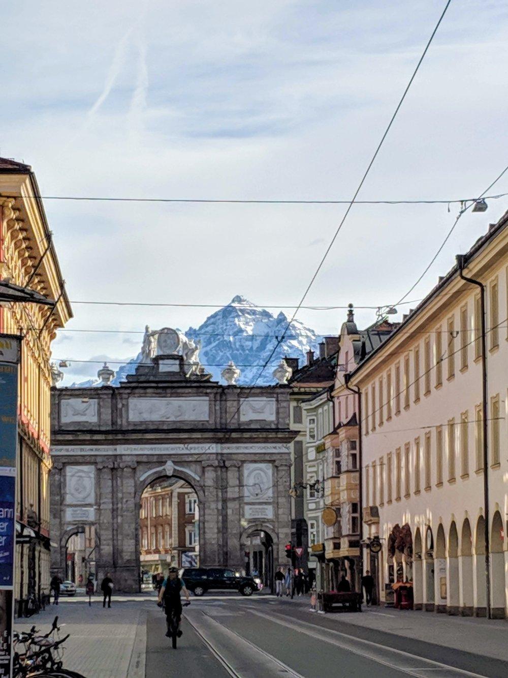 Triumphal Arch in Innsbruck Austria