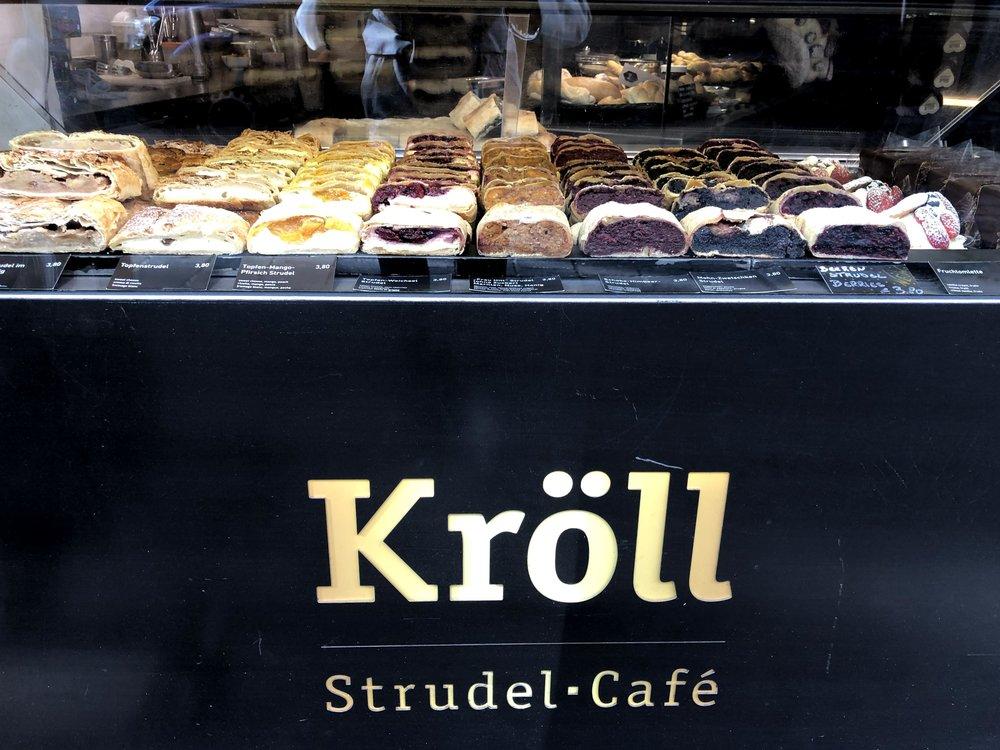 Strudel from Kroll Strudel Cafe in Innsbruck Austria