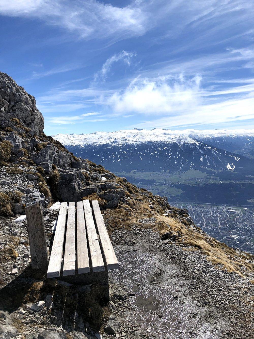 Hafelekar in the Nordkette mountains above Innsbruck