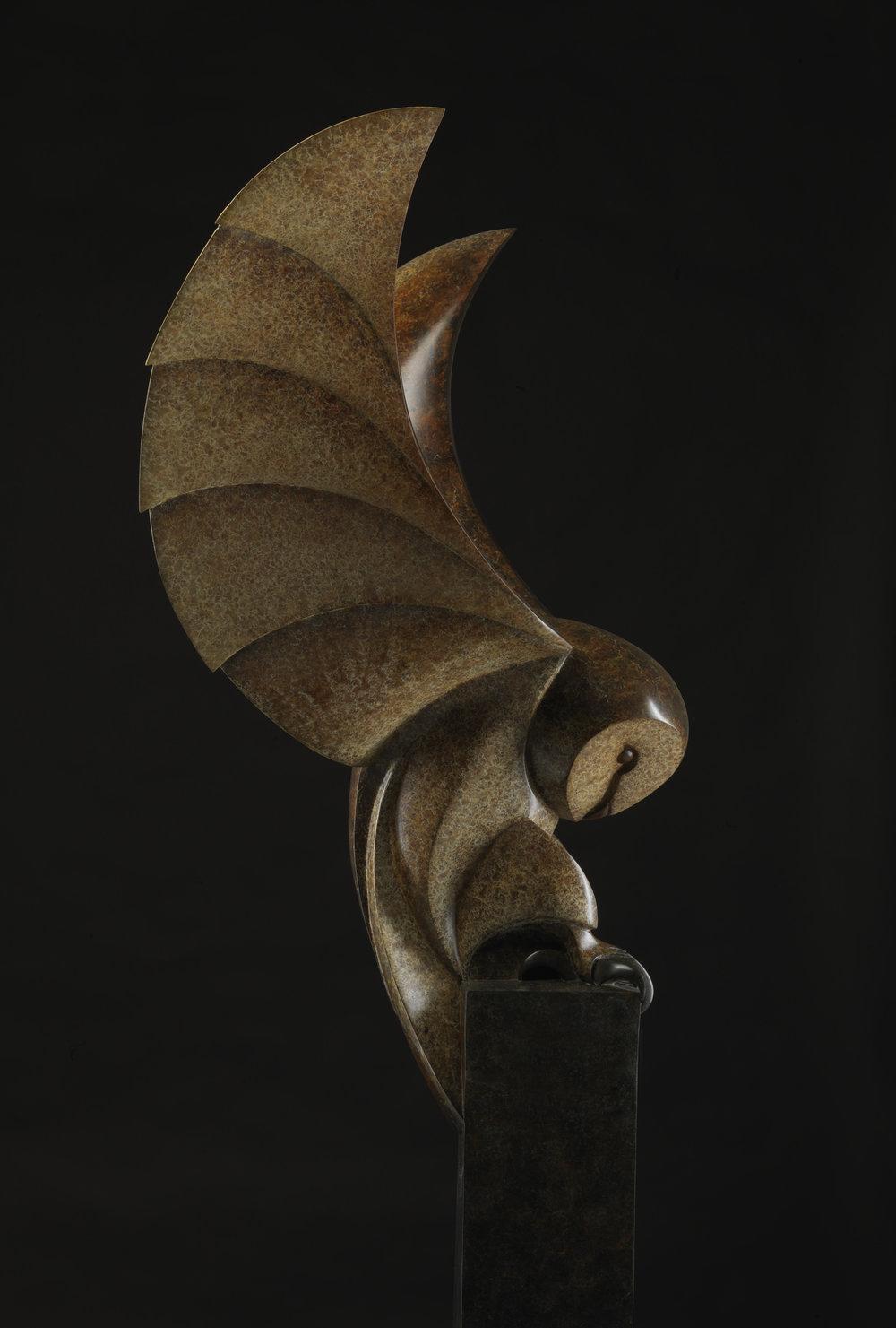 Barn owl.   £22,950. H 167.2cm LE 8/12