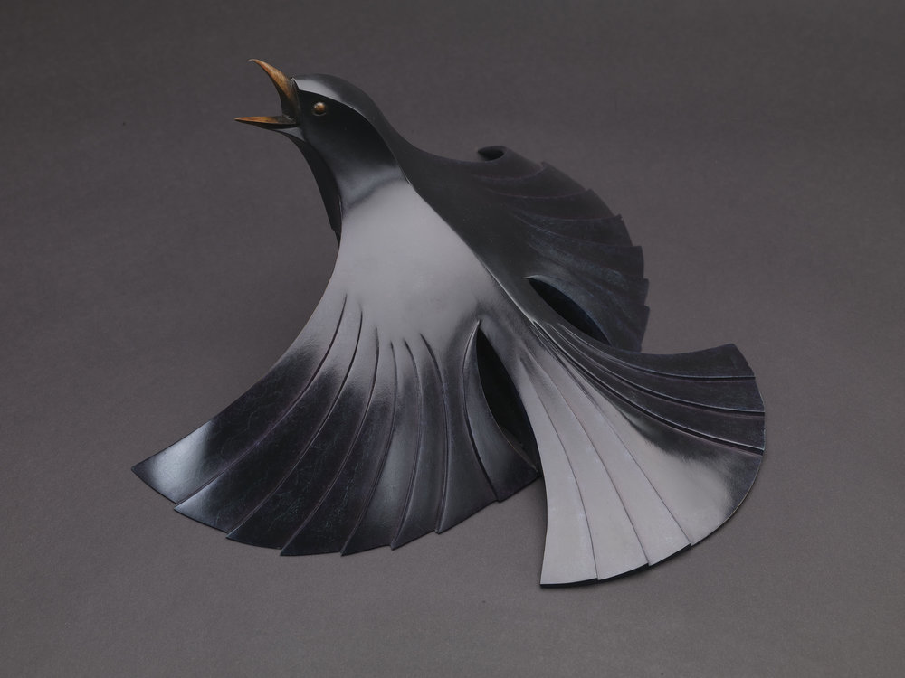 Blackbird sculpture