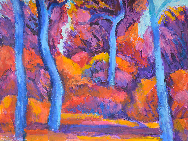Paul Lozynskyj - Fauvist Trees
